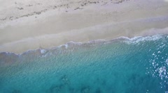 Aerial of the amazing Kathisma beach in Lefkada island Stock Footage
