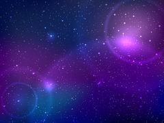 Space background with stars and patches of light. Abstract astronomical galaxie Piirros