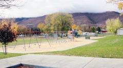 View of School yard HD  Stock Footage