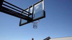 Basketball Dunk Stock Footage