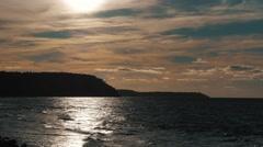 Mesmerizing sunset on the sea Stock Footage