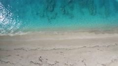 Aerial of the amazing Kathisma beach in Lefkada island Stock Footage
