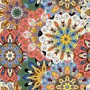 Seamless pattern. Vintage decorative elements. Stock Illustration