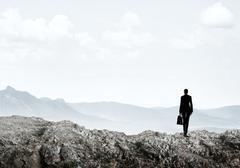 Achieving top of success Stock Photos