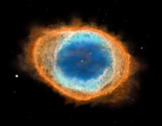 Galaxy : Ring Nebula M57, illustration Stock Illustration