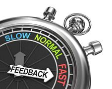 Fast Feedback, time concept Stock Illustration