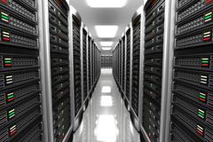 Modern interior of server room in datacenter Piirros