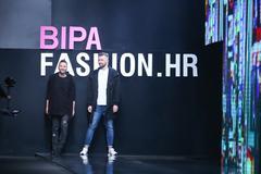 Bipa Fashion.hr fashion show: eNVy room, Zagreb, Croatia. Stock Photos
