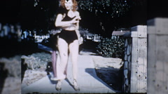 Sexy Young Woman Dancer Does Erotic Dance 1950s Vintage Film Home Movie 10222 Stock Footage