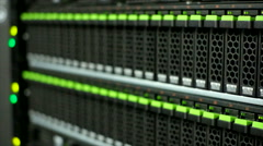 Close up storage in data center Stock Footage