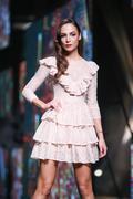 Bipa Fashion.hr fashion show: Elfs, Zagreb, Croatia. Stock Photos