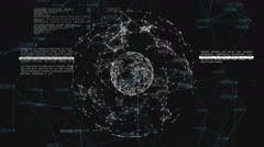 3d seamless animation of Global Business Network rotating in Space. Stock Footage