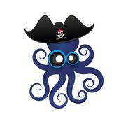 Beautiful tropical octopus Stock Illustration