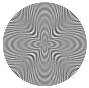 Concentric  circles from center texture Stock Illustration