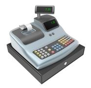 Cash register. Front view Piirros