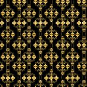 Abstract Glossy Golden Vintage Retro Seamless Pattern Background Stock Illustration