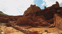 Native American Indian Ruins Tilt Up- Wupatki National Monument Arkistovideo