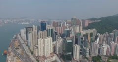 Aerial View of Hong Kong Arkistovideo