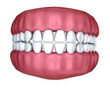 Human denture 3D image, isolated on white Stock Illustration