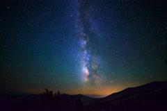 6K Astro Timelapse of Milky Way over White Mountain Stock Footage