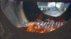 Barbeque flame Stock Footage