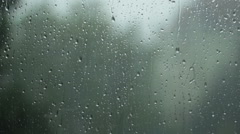 Rain pouring rapidly Stock Footage