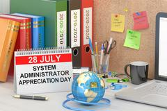 System Administrator Appreciation Day, SysAdmin Day concept, 3D rendering Stock Illustration