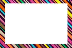 Color oblique lines nice frame with blanck space to write your text Stock Illustration