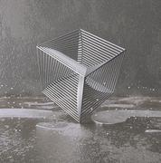 Chrome cube from rods Stock Illustration