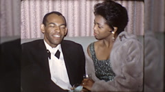 High Society African American Black Couple 1970s Vintage Film Home Movie 10208 Stock Footage