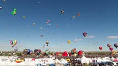 Balloon Festival Liftoff Timelapse in Albuquerque New Mexico Stock Footage