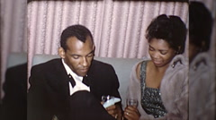 High Fashion African American Black Couple 1970s Vintage Film Home Movie 10207 Stock Footage