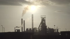 Port Talbot Steelworks Stock Footage