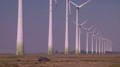 Wind turbine generetor energy Stock Footage