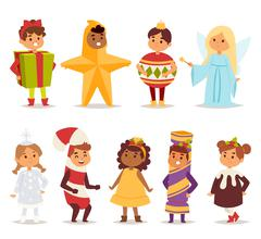 Illustration of carnival costume kids vector Stock Illustration