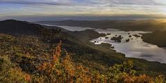 Lake George Sunset Panorama Stock Photos