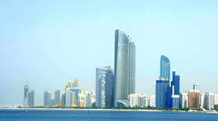 Abu Dhabi cityscape Stock Footage