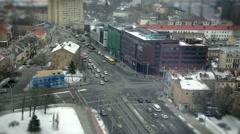 Traffic cross roads time lapse Stock Footage