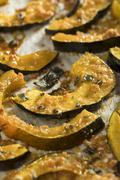 Homemade Autumn Baked Acorn Squash Stock Photos