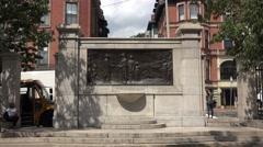 The Founders Memorial, Boston Common, Boston, MA. Stock Footage