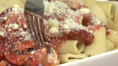 Italian Pasta with Bolognese Sauce Stock Footage