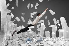 Escape from bureaucracy Stock Photos