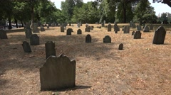 The Central Burying Ground, Boston Common, Boston, MA. Stock Footage