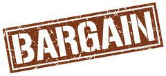 Bargain square grunge stamp Stock Illustration