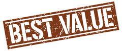 Best value square grunge stamp Stock Illustration