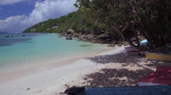 Small boats on Magens bay, St Thomas, United States Virgin Isalnds Stock Footage