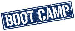 Boot camp square grunge stamp Stock Illustration