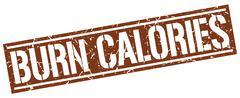 Burn calories square grunge stamp Stock Illustration
