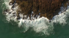 Movement and splash of waves against the rocks. Stock Footage