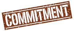 Commitment square grunge stamp Stock Illustration